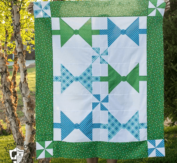 Bow Tie Quilt Pattern by Polka Dot Chair