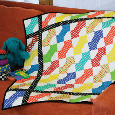 Bright Bowtie Quilt Pattern by Abigail Dolinger