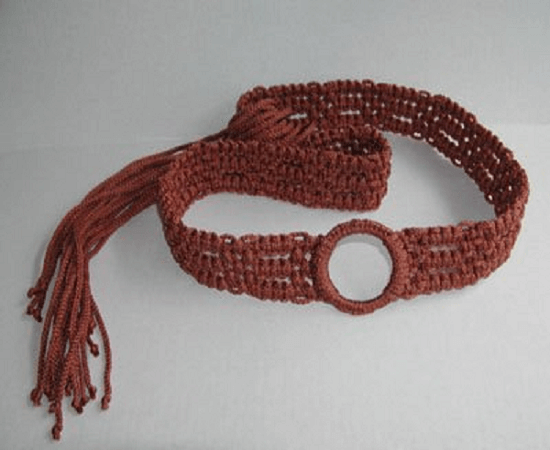 Bronze Macrame Belt Pattern by This Year's Dozen