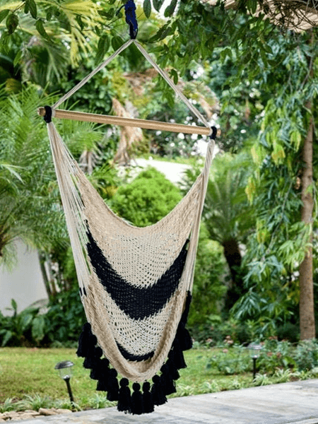 Colonial Navy Blue Macrame Hammock From Arti Hammocks