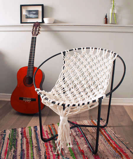 DIY Macrame Hammock Chair by Fish And Bull