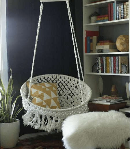 DIY Macrame Hanging Chair by Classy Clutter