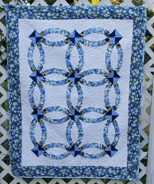 Double Wedding Ring Lap Quilt Pattern by Becky's Quilt Designs