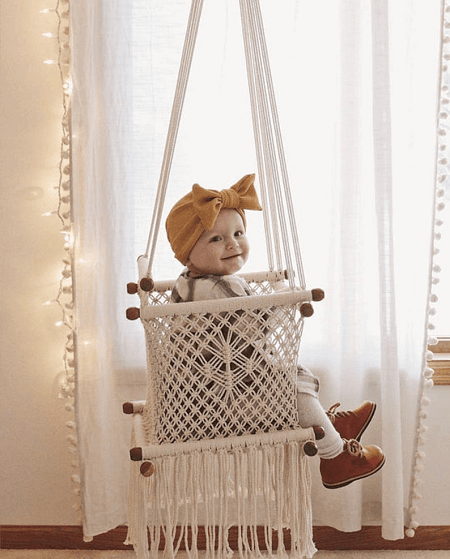 Handmade Macrame Hammock For Baby From SN Handicrafts