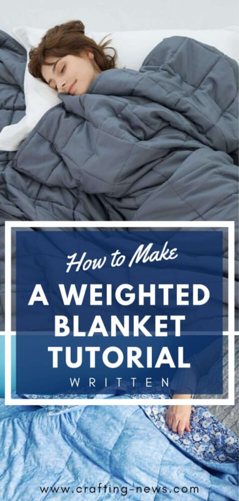 how to make weighted blanket tutorial