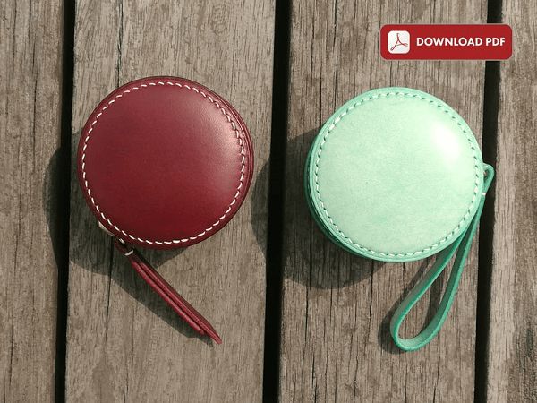Leather Coin Purse Pattern by Blue Cat Leather Craft