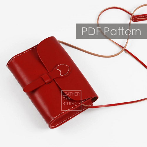 Leather Saddle Bag Pattern by Leather DIY Studio