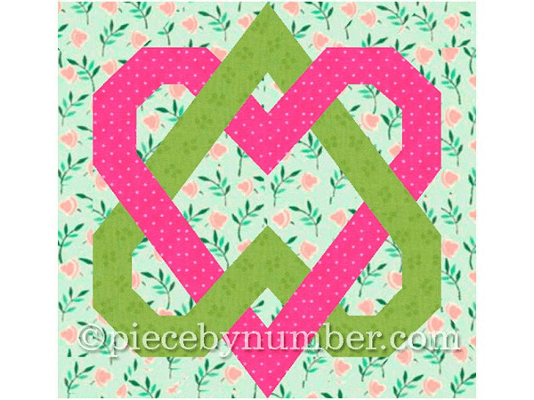 Linked Hearts Wedding Quilt Pattern by Piece By Number Quilts