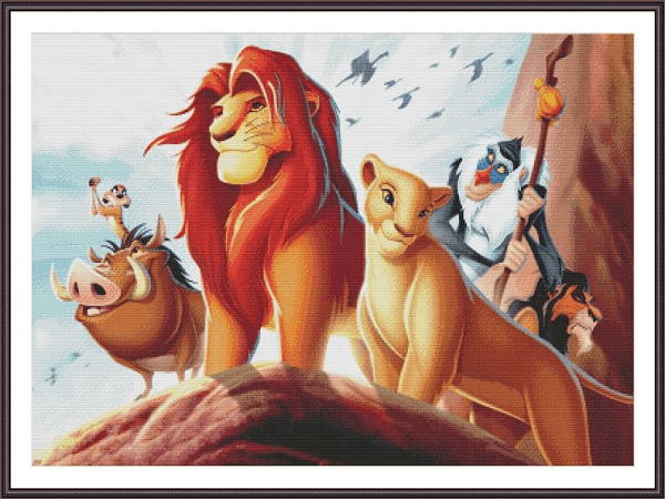 Lion King Cross Stitch Pattern by Z Anna Cross Stitch