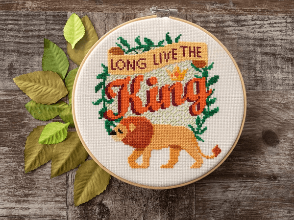 Long Live The King Cross Stitch Pattern by Fiddle Sticks AU