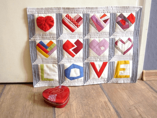 Love And Hearts Wedding Quilt Pattern by Right Patterns