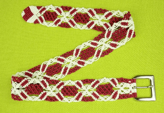 Macrame Belt Pattern by Macrame School
