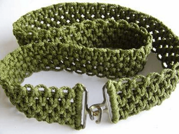Macrame Belt Pattern by This Year's Dozen