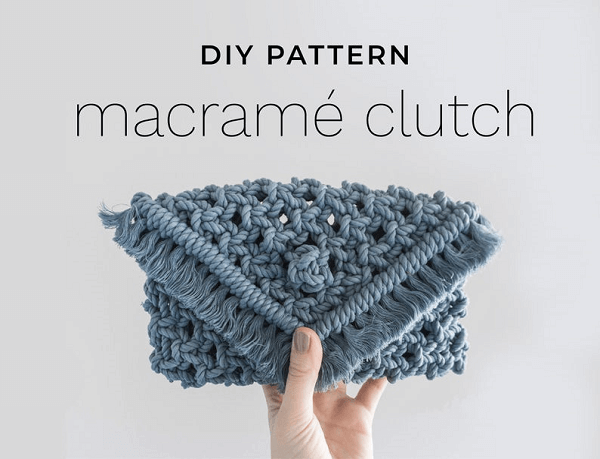 Macrame Clutch Pattern by The Dope Rope