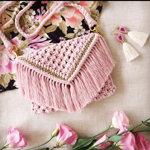 Macrame Clutch Pattern by Home Vibes Macrame