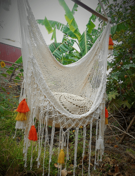Macrame Hammock With Color Tassels From Nic Soul Hammocks
