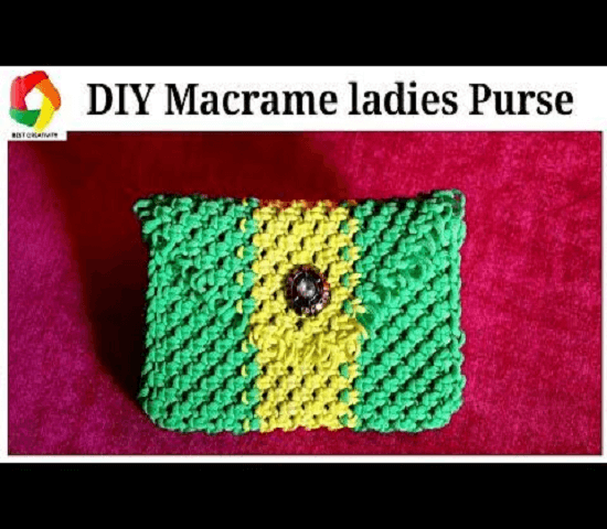 Macrame Small Ladies Purse Pattern by Best Creativity