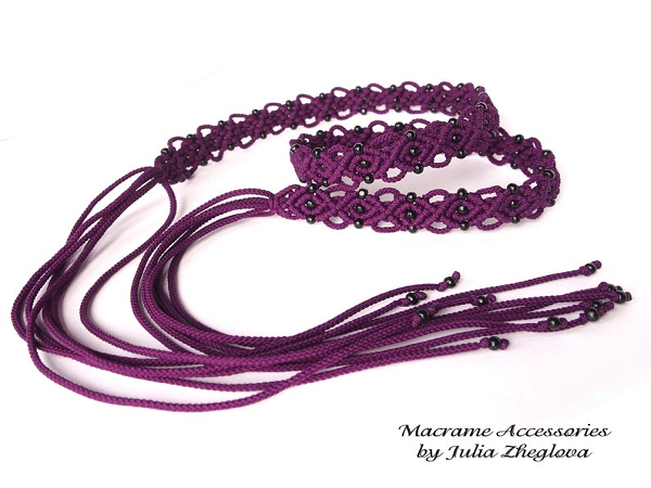 Macrame Tassel Belt Pattern by Makrame