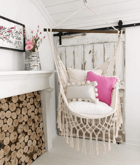 Off White Macrame Hammock Chair From Limbo Imports