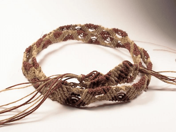 Retro Hippie Macrame Belt Pattern by Zaney May