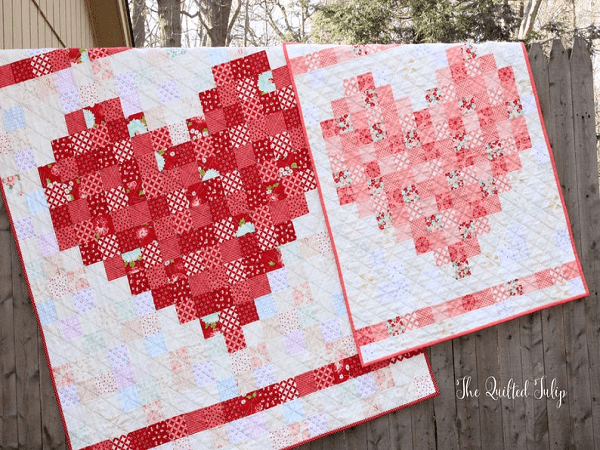 Wedding Gift Quilt Pattern by The Quilted Tulip