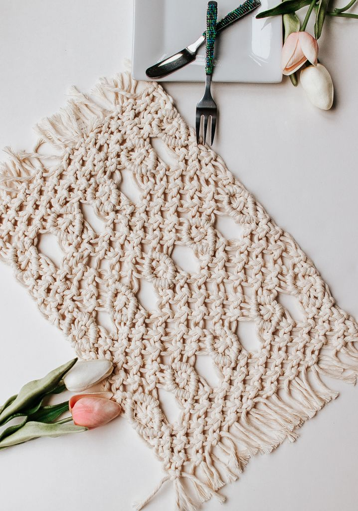 Free basic macrame placemat basic macrame knot patterns