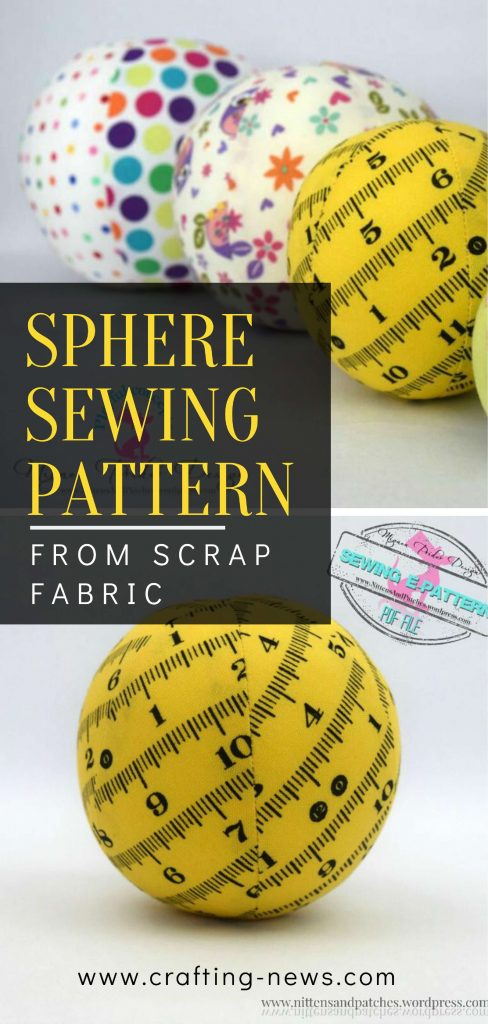 Sphere Sewing Pattern from Scrap Fabric