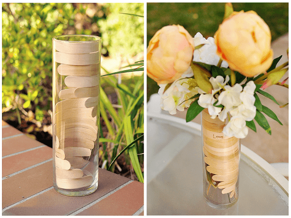Bending Popsicle Sticks For Wooden Helix Vase by The Cheese Thief