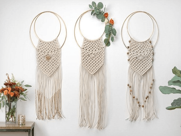 Chic Macrame Wall Hanging Pattern by FTD by Design