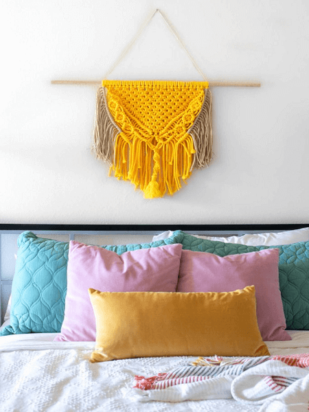 Colorful Macrame Wall Hanging Pattern by Club Crafted