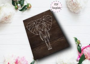 easy DIY animal Geometric String Art Template