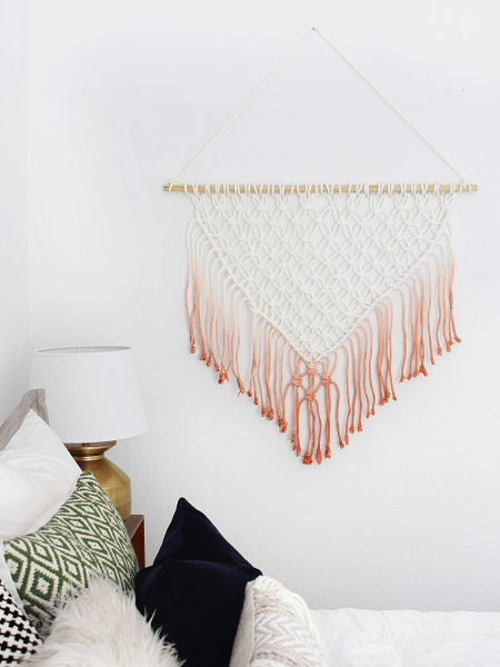 Easy Macrame Wall Hanging Pattern by Classy Clutter