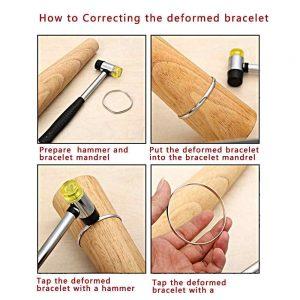 fix deformed metal bangle how to fix a metal bracelet