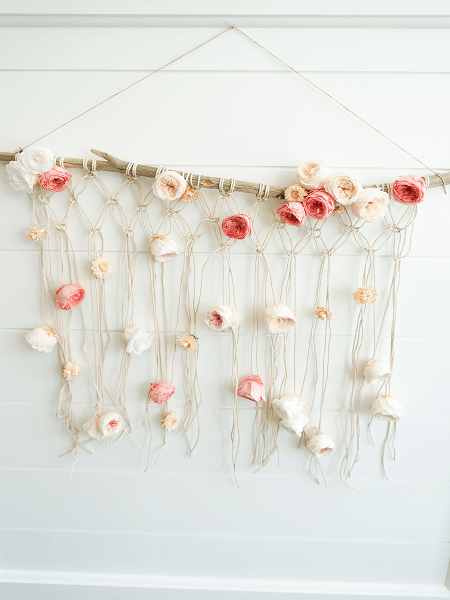 Floral Macrame Wall Hanging Pattern by Finding Lovely