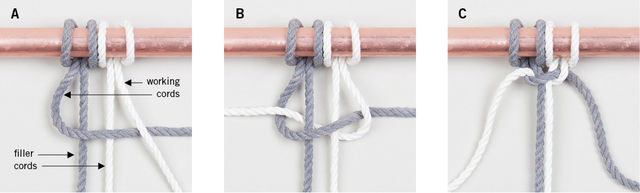 half square knot basic macrame knot patterns