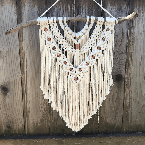 Layered Macrame Wall Hanging Pattern by Driftwood Family