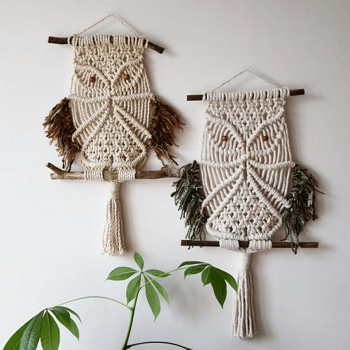 Macrame Owl Wall Hanging Pattern by Tamar Things