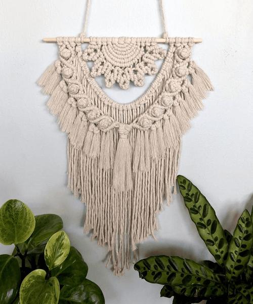 Macrame Sunflower Wall Hanging Pattern by Wildwoods Fibre Art
