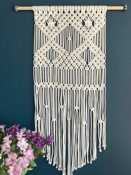 Macrame Wall Hanging Pattern For Beginners by My French Twist