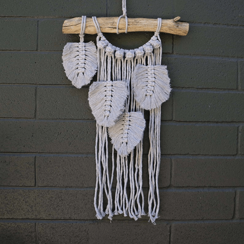 Macrame Wall Hanging Pattern With Feathers by Knot Modern