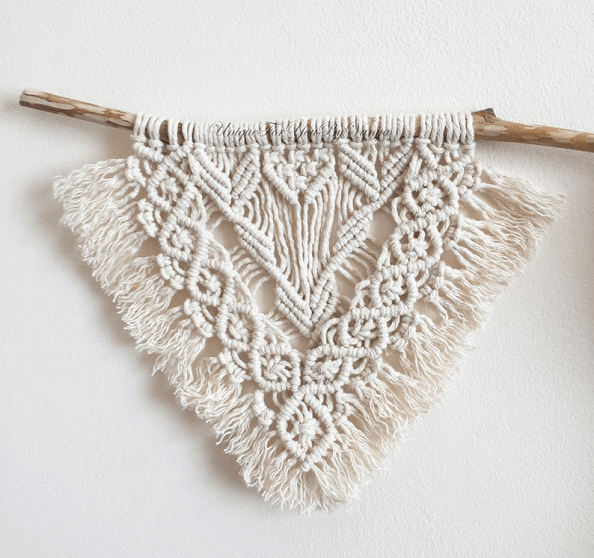 Mini Macrame Wall Hanging Pattern by Unique For You By Vanya