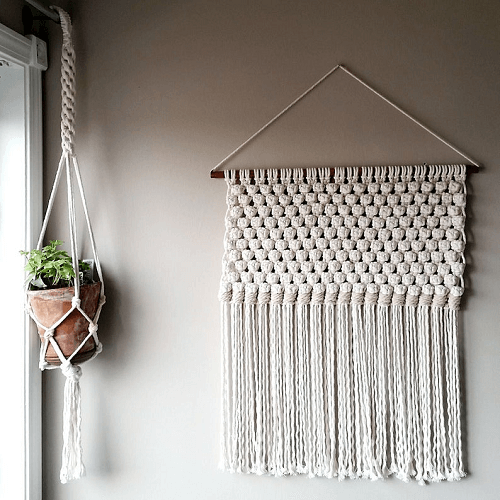 Minimalist Macrame Wall Hanging Pattern by Jean And Clyde Fibers