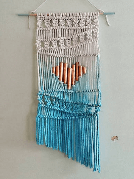 Ombre Macrame Wall Hanging Pattern by Nostalgiecat
