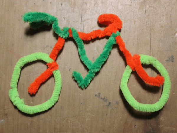 Pipe Cleaner Bicycle by My Kid Craft