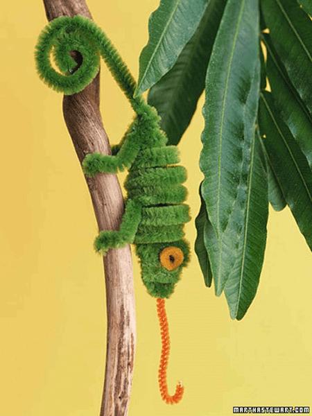 Pipe Cleaner Chameleon by Martha Stewart