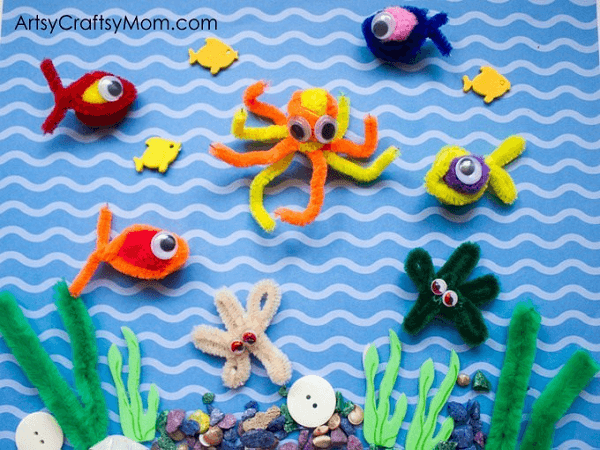 Pipe Cleaner Fishing Game by Artsy Craftsy Mom