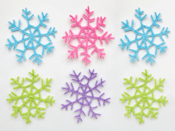 Pipe Cleaners Snowflake by First Palette