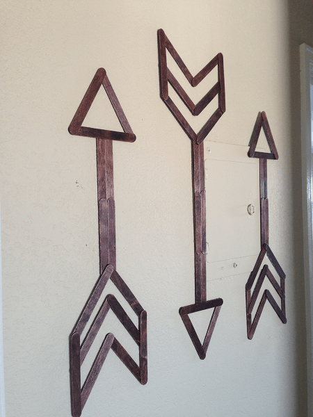 Popsicle Stick Arrow Wall Art by Festoon And Frill