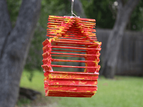 Popsicle Stick Birdhouse by Instructables