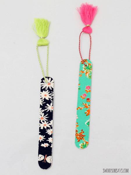Popsicle Stick Bookmarks by Swoodson Says